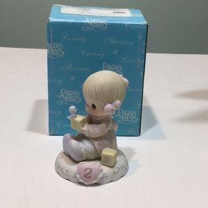 1994 Growing In Grace Age 2 Porcelain Figurine
